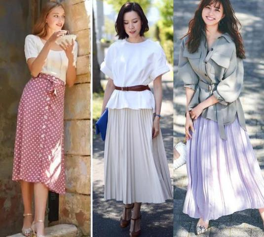 """气质女人的""""半裙""""搭配示范,40岁照样可以穿出少女的浪漫与慵懒"""