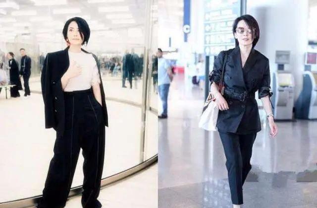 47岁俞飞鸿撞脸王菲!穿职业装减龄20多岁,你分得清?